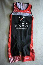 KIWAMI Sprint Skin Suit Tri Triathlon Womens S Padded Cycling Short Red Black