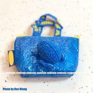 """Toy2R x Emilio Garcia 2""""Mini Jumping Brain Keychain Blue Colour MIB"""