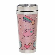 Official Licensed GUND Pusheen The Cat Pastel Pink Travel Mug Cup