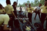 Ronnie Peterson JPS Lotus Italian GP 1974 Photograph 2