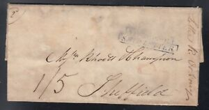 Canada 1807 Transatlantic Stampless Liverpool Ship Letter SFL Montreal Sheffield