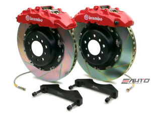 Brembo Front GT Brake 8pot Red 380x34 Slot Escalade 02-06 Chevy GMC 1500 00-06