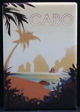 "Cabo San Lucas Vintage Travel Poster 2"" X 3"" Fridge / Locker Magnet. Mexico"