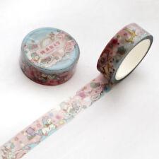 1.5 cm Lovely Pink Unicorn Washi Tape Journal Sky Cartoon Adhesive Tape Hot Sale