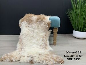 Tibetan Sheepskin Lambskin Rug Pelt Genuine Real Natural Colors
