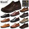 Men's Comfy Leather Driving Shoes Casual Pull On Work Loafers Business Moccasins