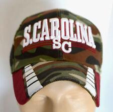 New SC S. Carolina Camo Hat Long Bill USA Headwear Baseball Ball Cap Lid Hunters
