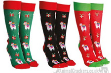 Novelty Christmas Llama Alpaca socks Unisex One Size Sock Society 3 PACK OFFER
