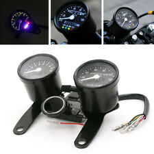 12V Motorcycle Black LED Tachometer Km/h Speedometer Odometer Gauge With Bracket