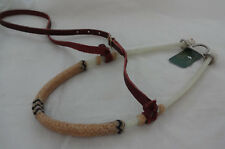 Noseband Rope Rawhide Laced Covered Western Caveson Tack Berlin Custom Leather