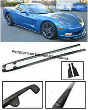 ZR1 Carbon Fiber Rocker Panels Side Skirts For 05-13 Chevy Corvette C6 Base Only