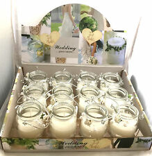 12 x Wholesale Scented Candles Jar Glass Fragrance Wedding Party Engagement Ligh