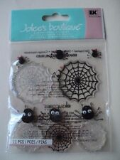 EK SUCCESS JOLEE'S BOUTIQUE CUTE SPIDERS AND WEBS DIMENSIONAL STICKERS
