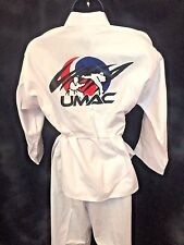 Real UMAC Youth Martial Arts Uniform Gi SZ 0/140 Taekwondo Costume Halloween