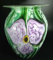 Eickholt Signed 1997 Orchid Cased Glass Vase
