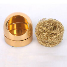 New Solder Soldering Iron Tip Cleaner Brass Sponge and Holder Copper