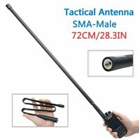 28.3IN SMA-Male Foldable CS Tactical Antenna For Yaesu TYT Wouxun Two Way Radio