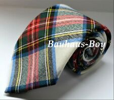 NECK TIE TARTAN STEWART DRESS 100% PURE WORSTED WOOL KILT MADE IN SCOTLAND MENS