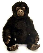 "Aux Nations Plush Sitting Chimpanzee, Brown Face-20""H"