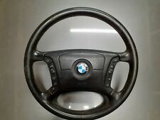 BMW E39 E38 5 7 SERIES BLACK LEATHER STEERING WHEEL WITH AIRBAG  1998-2004