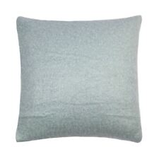 """Filled Wool Mohair Effect Knitted Duck Egg Blue 18"""" - 45Cm Cushion"""
