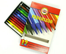 Koh-I-Noor Progresso Set of 12 Woodless Coloured Pencils (8756)