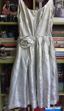 True vintage début 1960 S argent lame Dress-Taille S 8