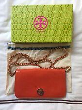 4f1777cd8011 Tory Burch Adalyn Patent Leather Poppy Red Clutch Shoulder Bag Crossbody