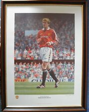 STEPHEN SMITH Signed Limited Edition Print of DAVID BECKHAM at MANCHESTER UNITED