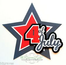 CraftEcafe Premade Paper Piece Die Cut Scrapbook 4th July Fireworks BLJgraves 6