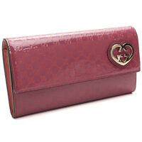 GUCCI 251861 Geldbörse/Portemonnaie Monogramm rose Leder Wallet