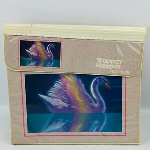Vintage Mead Trapper Keeper Swan #29096 Notebook 3 Ring Binder Flaws
