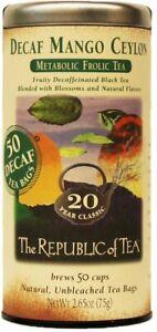 Decaf Mango Ceylon Tea by The Republic of Tea, 50 tea bag
