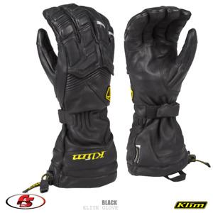 New Klim Elite Snowmobile Motorcycle Gore-tex Glove, black, Size 2X