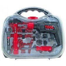 Kinder Werkzeugkoffer TOOL Bohrmaschine Koffer inkl Zubehör Spielzeug Kunststoff