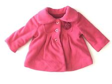 Girls Cherokee Pink Fleece Coat Size 12 Months
