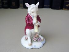 VINTAGE CONTINENTAL porcelain Sheep figurine Playing A flute