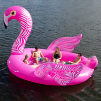 NEW 2019 GIANT INFLATABLE PINK FLAMINGO PARTY FLOATING ISLAND LAKE RIVER RAFT