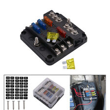 6 Way Car Boot Power Distribution 12-24V Blade Fuse Holder Box Block Panel Board