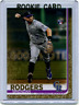 2019 Topps Update #US299 Brendan Rodgers Gold Parallel Rookie /2019 Rockies