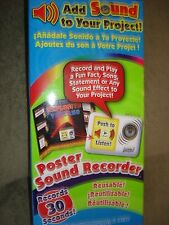 ART SKILLS POSTER SOUND RECORDER REUSABLE RECORDS 30 SECOND