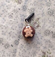 Cute Hedgehog dust plug Handmade Phone Charm Gift Earphone Cap