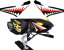 SKI DOO BRP REV XP nose cone jaws shark teeth RENEGADE FREERIDE DECAL STICKER 2