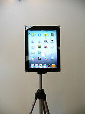 Tripod Mount for Ipad 2 and ipad 3 Teleprompter stand  Free clamp included Black