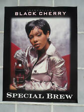 Sexy Girl Beer Poster Black Cherry Special Brew ~ Silver Jacket & Gloves