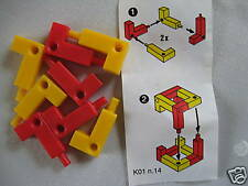 K01 - 14  GIOCO ROSSO  + CARTINA  kinder
