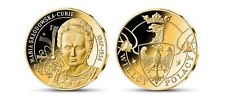 Poland Curie Medals  Marie Curie Brass Platered 24K Gold only 10.000 pcs