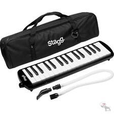 Stagg MELOSTA32BK Black Plastic Melodica Reed Keyboard 32 keys w/ Soft Case