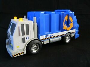 """2013 Hasbro Tonka 11""""  Recycling Trash Garbage Truck Lights & Sounds Tested"""