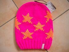 (H) Grobstrick Mütze FREAKY HEADS Beanie Wintermütze Little Stars mit Logo Flag